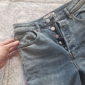 Free People Cropped Wide Legged Denim